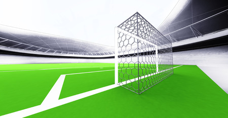 modern football stadium goal view own design illustration illustration