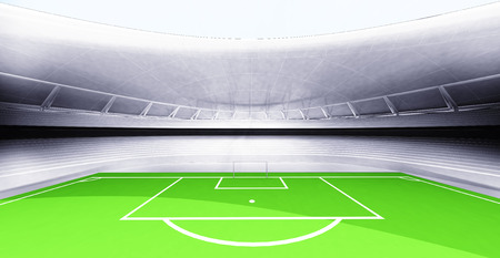 modern new football stadium own design illustration illustration