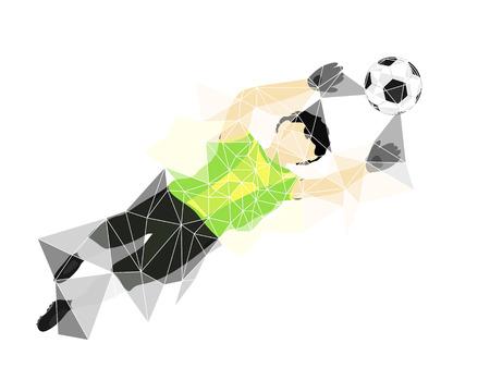 brazil dress goalkeeper safe in triangle design vector illustration Vector
