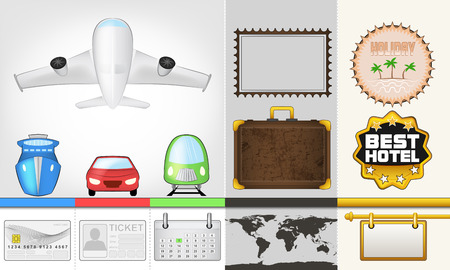 vector traveling and transport collection illustration Vector