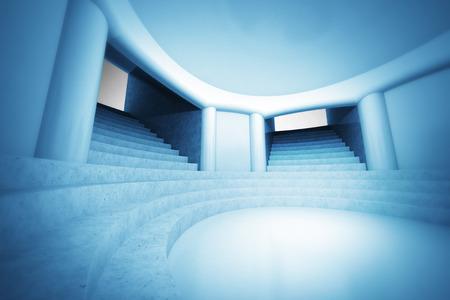 church interior: wallpaper scene of spiritual church interior view illustration