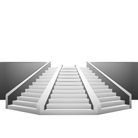polygonal staircase on white background illustration Ilustração