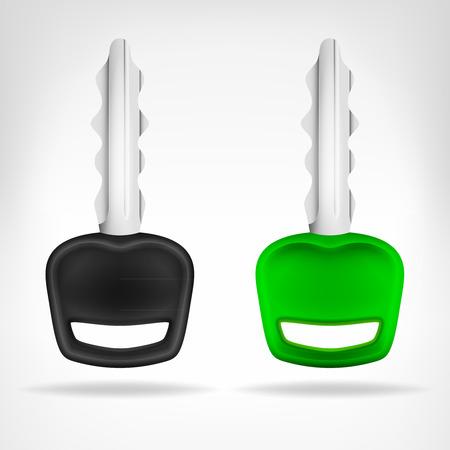 Zwei Autoschlüssel Objekt 3D-Design auf weißem illustration Standard-Bild - 31585599