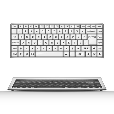 keyboard object 3D design isolated on white illustration Vector