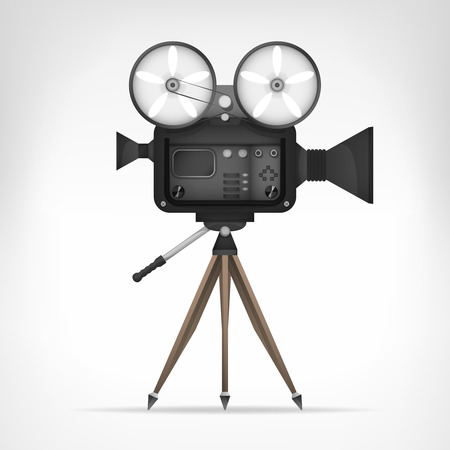 retro camera object 3D design isolated on white illustration  Vector