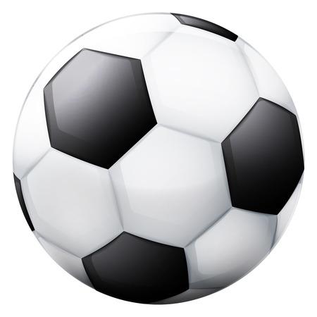 classical football ball 3D object isolated vector illustration Vector