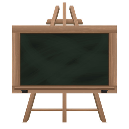 wide blackboard on tripod object isolated vector illustration Vector
