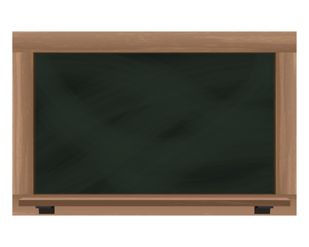 empty horizontal blackboard frame object isolated vector illustration Vector