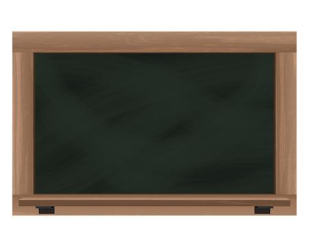 empty horizontal blackboard frame object isolated vector illustration Vector