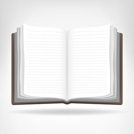 고립 된 개체: 열린 빈 책 고립 된 개체 벡터 일러스트 레이 션 일러스트