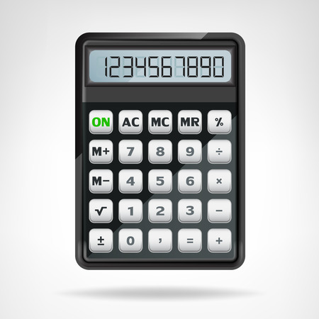 big round black calculator object isolated vector illustration Vector