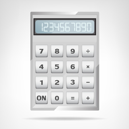 small square metallic calculator object isolated vector illustration Vector