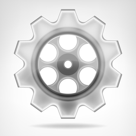 gear wheel 3D object isolated vector illustration Vector