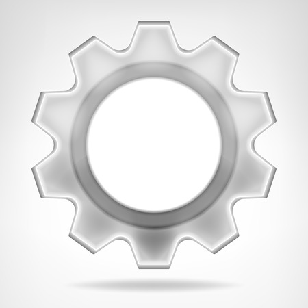 vector wheel: gear wheel inner text space template isolated vector illustration