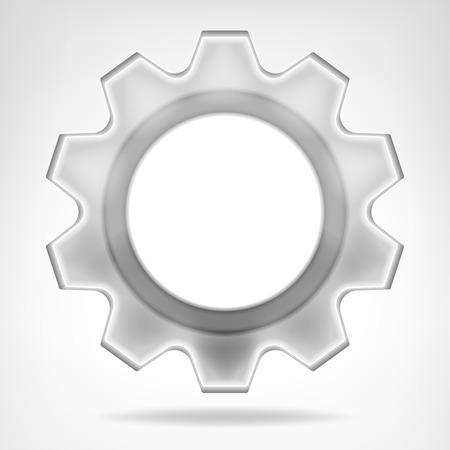 vector wheel: gear wheel inner text space template isolated vector illustration