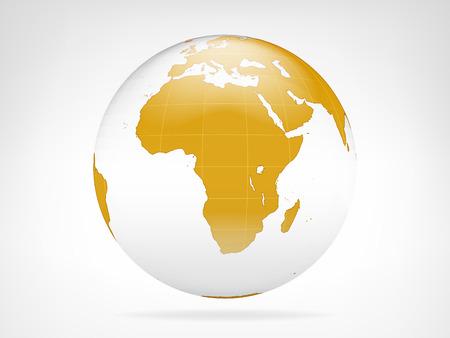 Africa golden planet backdrop view vector illustration Vector