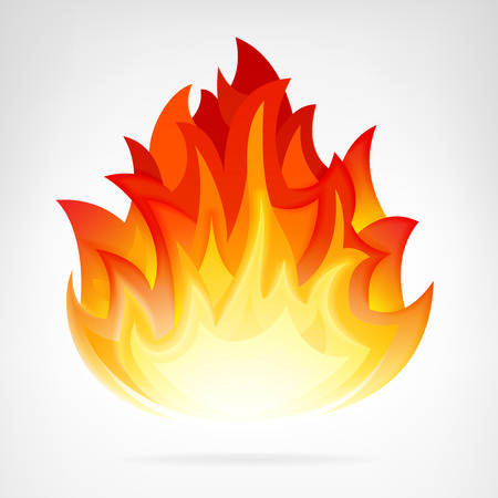 wildfire flame isolated vector element illustration