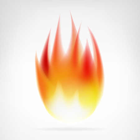 realistic fire flame isolated vector element illustration Vector