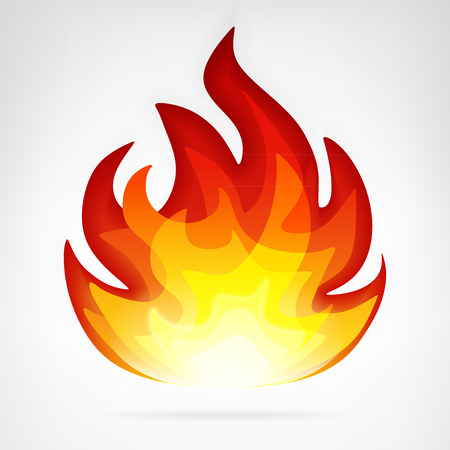 ignite fire flame vector element vector illustration Vector