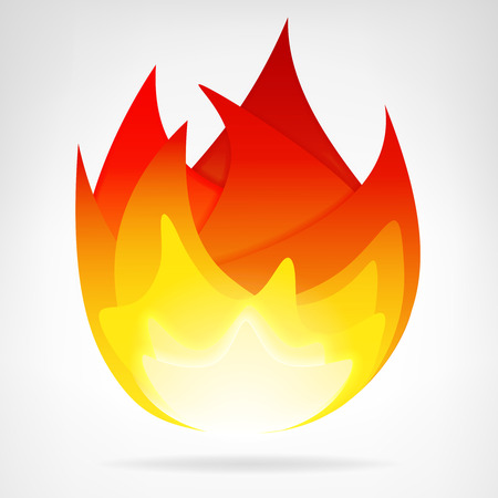 fire flame energy isolated vector teplate illustration Vector