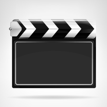 blank movie flap object  isolated on white vector background