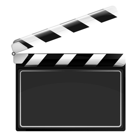 blank open movie flap object  isolated on white vector background