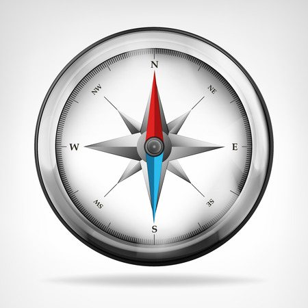isolated metallic compass object vector illustration Vector