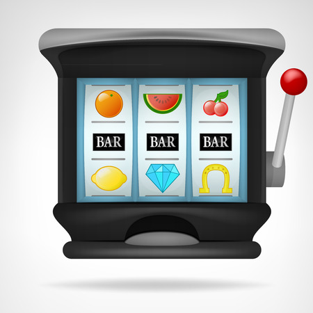 three bar winning sings on play machine object vector illustration Vector