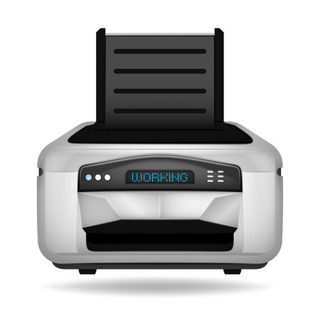 modern printer electronic device vector object illustration Vector