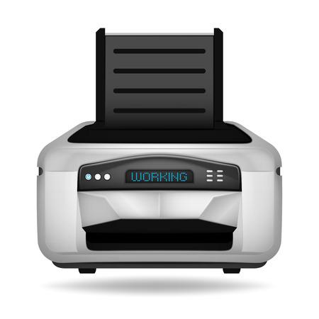 modern printer electronic device vector object illustration Illustration