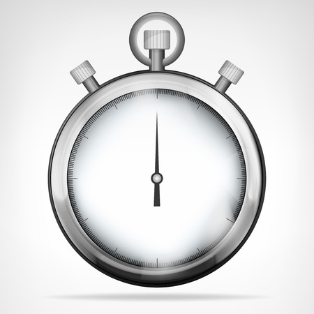 chrome stopwatch isolated object vector illustration Vector