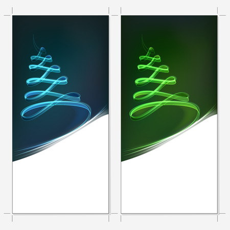 xmas tree modern design with crop marks Vector
