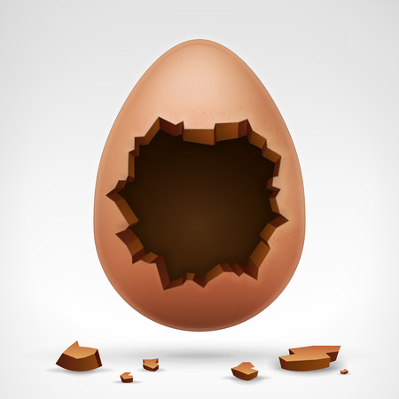 broken egg: vector illustration isolated on white Illustration