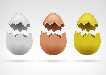 broken egg: easter and agriculture theme vector illustration