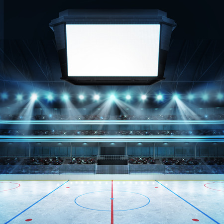 hockey hielo: arena de deporte en vista renderizado mi propio diseño