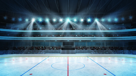 hockey: sport arena rendering my own design
