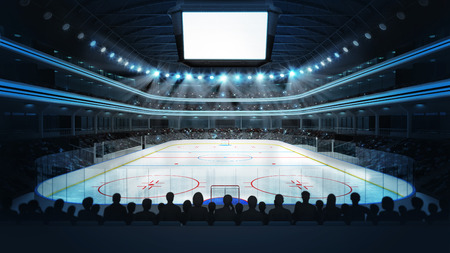 hockey: sport arena in view rendering my own design