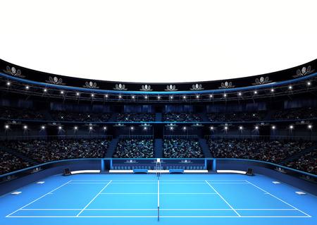 TENIS: aislado estadio de tenis con el espacio de texto vacío blanco deporte tema hacer ilustración fondo propio diseño Foto de archivo
