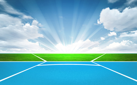 javelin throw: javelin throw post outside sport theme render illustration background