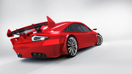 3D rendering, modern car design concept of my own Stock Photo