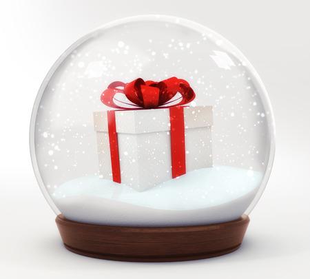 glass ball winter seasonal christmas decoration 3d illustration render