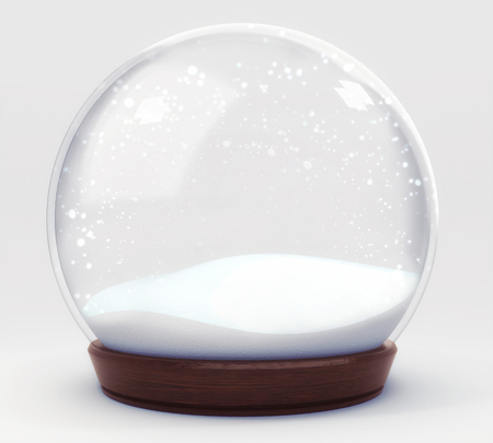 glass ball winter seasonal christmas decoration 3d illustration render