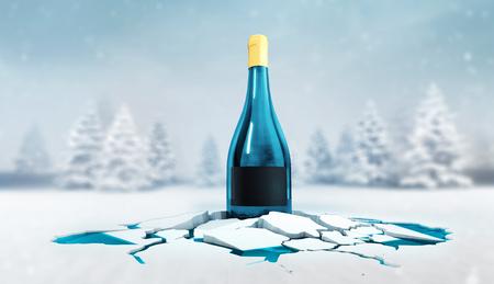 winter seasonal celebration occasion 3D illustration advertisement render