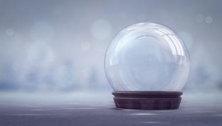 glass ball winter seasonal christmas decoration 3d illustration rendering  Stockfoto