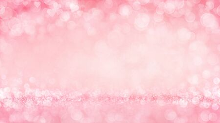 Pink passionate and glamour bright bokeh background. Love theme illustration. Stockfoto - 140769559