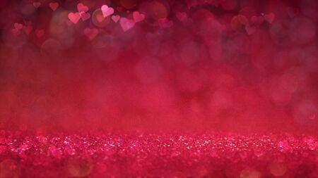 Red passionate and glamour bright bokeh background. Love theme illustration. Stockfoto - 139105827