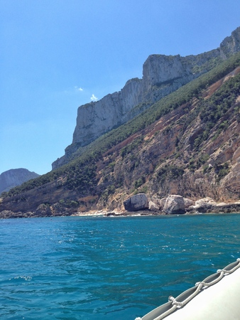 unaffected: Sardinian coast by boat