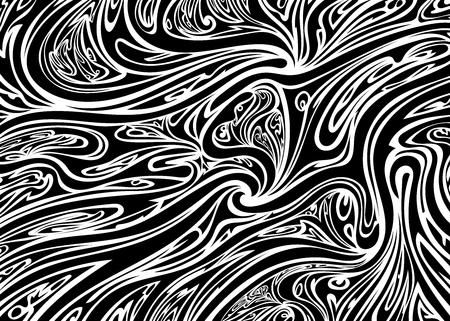 Fond blanc noir abstrait psychédélique