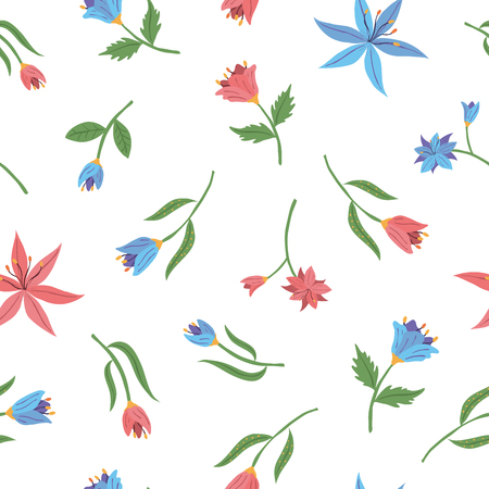 Pastel color simple flower petals confetti seamless pattern. vector illustration for fashion, scrapbook, surface design