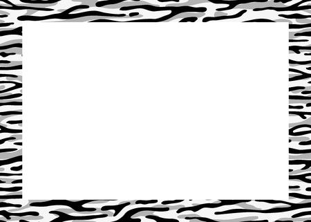Zebra frame View from above Illusztráció